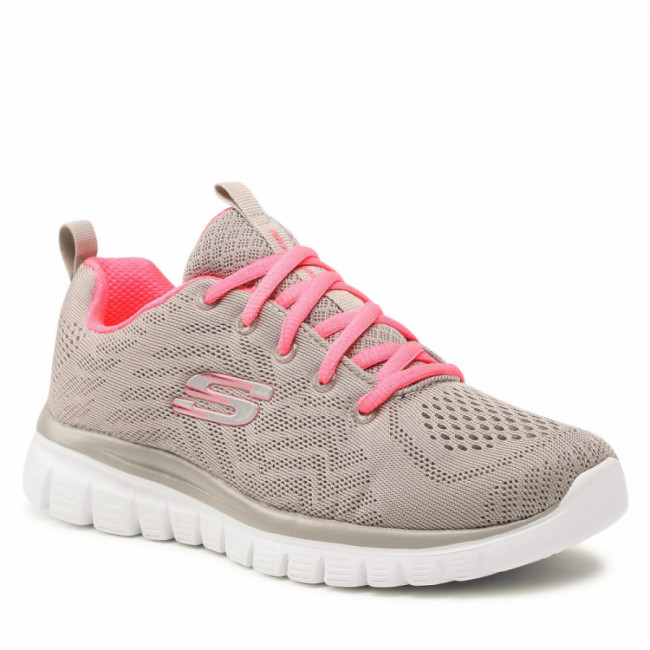 Topánky SKECHERS - Get Connected 12615/GYCL Gray/Coral