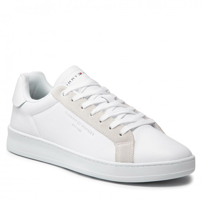 Sneakersy TOMMY HILFIGER - Cupsole Court Leather FM0FM03627 White YBR