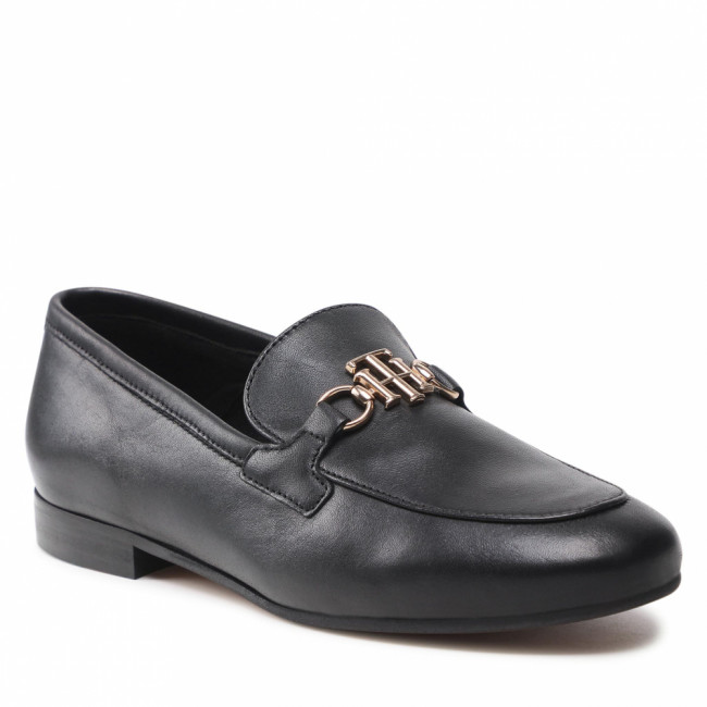 Lordsy TOMMY HILFIGER - Th Hardware Leather Loafer FW0FW05958 Black BDS