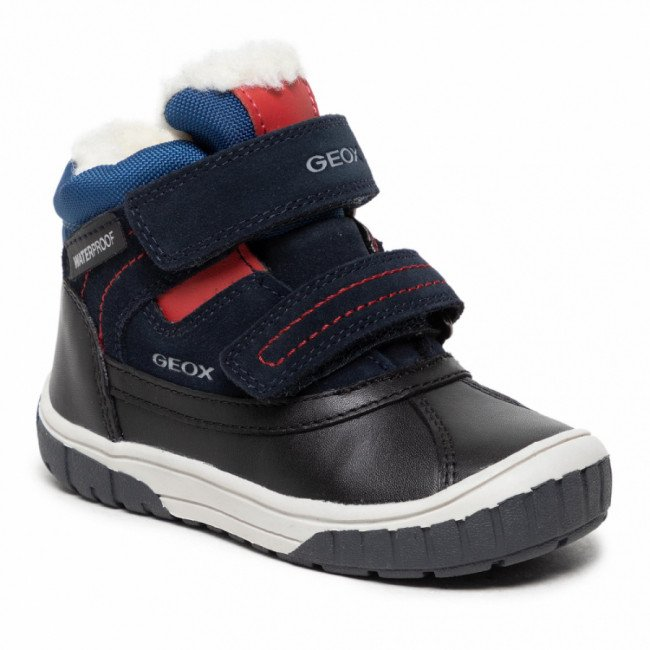 Čižmy GEOX - B Omar B.Wpf B B162DB 022FU C4244 S Navy/Dk Red