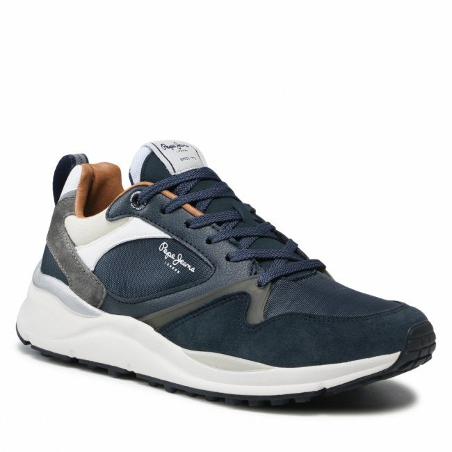 Sneakersy PEPE JEANS - Trail Back PMS30776 Navy