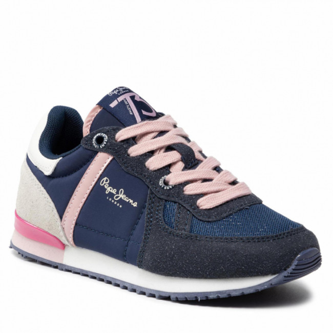 Sneakersy PEPE JEANS - Sydney Combi Girl PGS30515 Navy 595