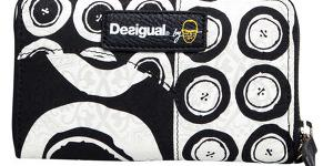 Desigual Peňaženka Mini Zip Black and White Negro
