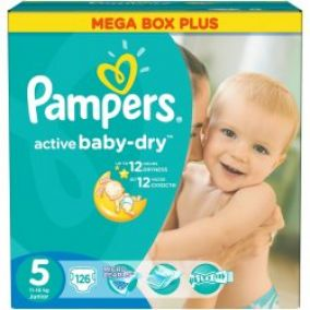 Pampers Plienky Active Baby Dry 5 Junior 11 18kg