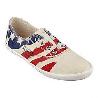 Guess Tenisky Tucci Frayed Slip-On Natural Multi -