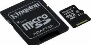 Kingston microSDXC 128GB UHS-I U1 + adaptér