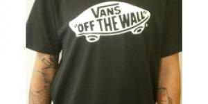 VANS boys otw black white