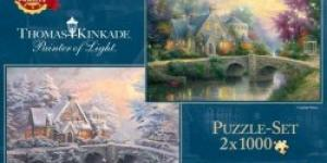 Schmidt Puzzle Kinkade: Winter in Lamplight Manour