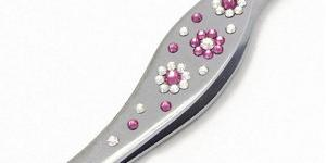 GM Collection Pinzeta Swarovski Flowers Pink