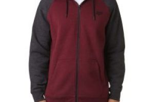 Fox Legacy Zip Fleece burgundy