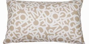 Abc beige cushion 30x50 cm by Loom In Bloom