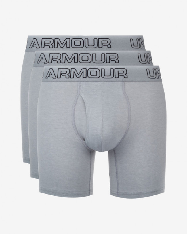 "Under Armour Charged Cotton® Stretch 6"" Boxerky 3 ks Šedá"