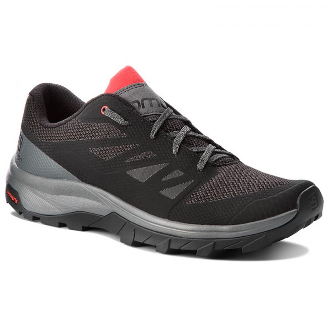 Trekingová obuv SALOMON - Outline 404775 30 M0 Black/Quiet Shade/High Risk Red