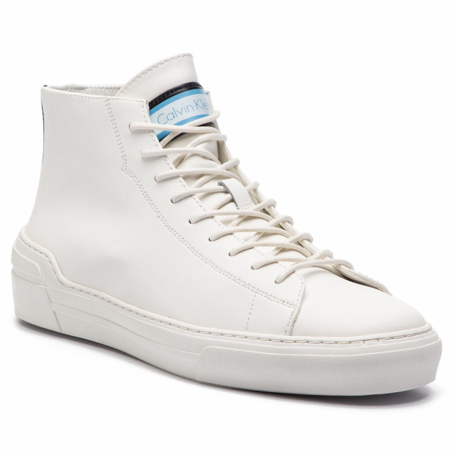 Sneakersy CALVIN KLEIN - Okey F0996  White/Navy/Dusty Blue