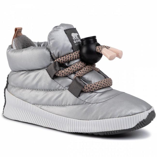 Snehule SOREL - Out N About Puffy Lace NL3397 Pure Silver 034