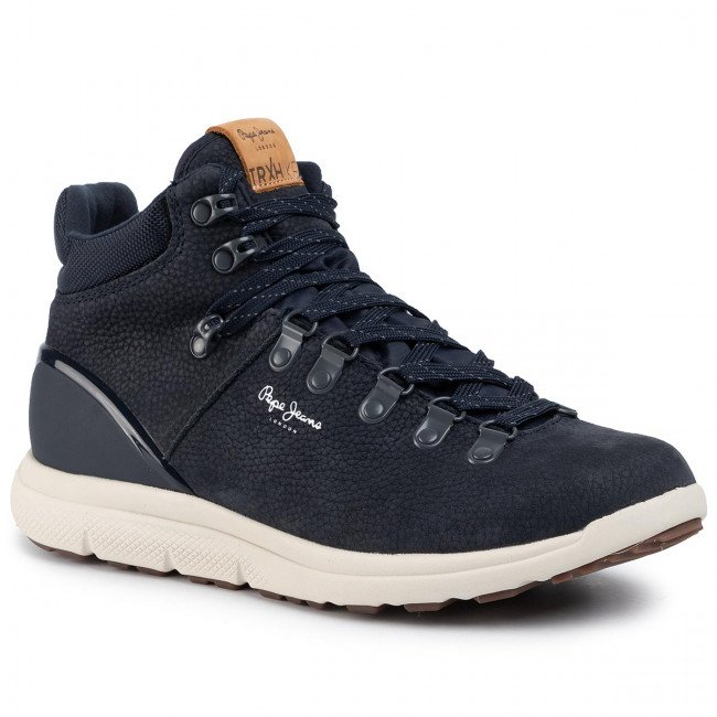 Sneakersy PEPE JEANS - Hike Leather PMS30562 Navy 595