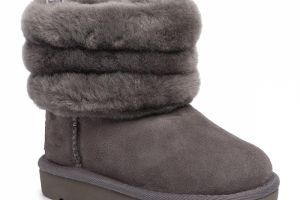 Topánky UGG - T Fluff Mini Quilted 1103612T Chrc