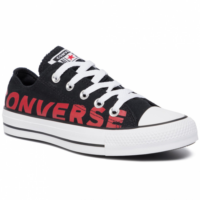 Tramky CONVERSE - Ctas Ox 165430C Black/Enamel Red/White