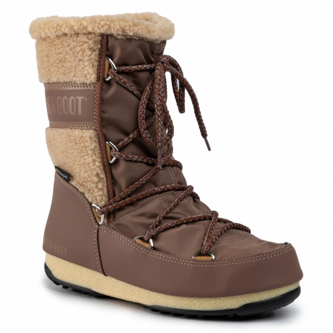 Snehule MOON BOOT - Monaco Wool Mid Wp 24009000005 Mud