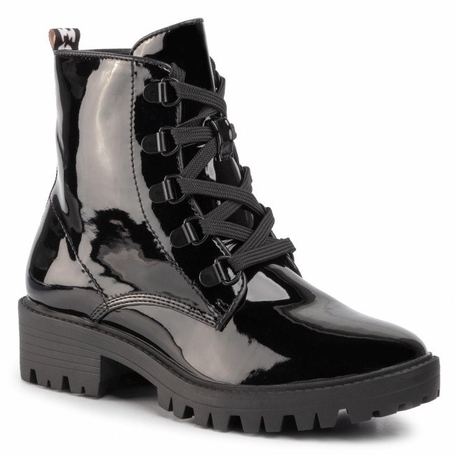 Outdoorová obuv KENDALL + KYLIE - Epic Bootie Black Patent