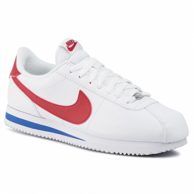 Topánky NIKE - Cortez Basic Leather 819719 103 White/Varsity Red