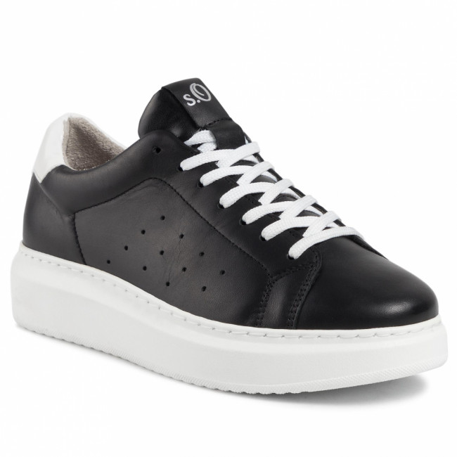 Sneakersy S.OLIVER - 5-23630-33  Black Leather 003