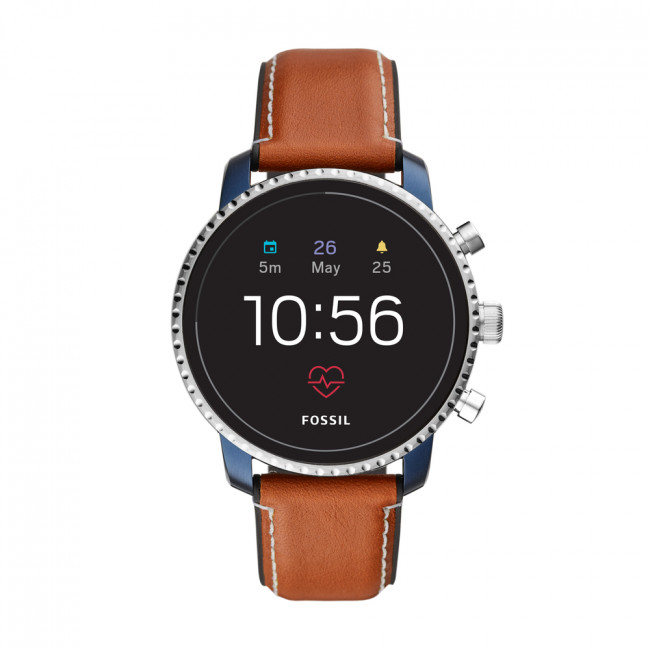 Smart hodinky FOSSIL - Explorist Hr FTW4016  Brown/Silver