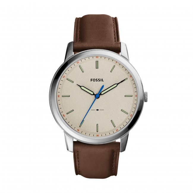 Hodinky FOSSIL - The Minimalist 3H FS5306 Brown/Silver