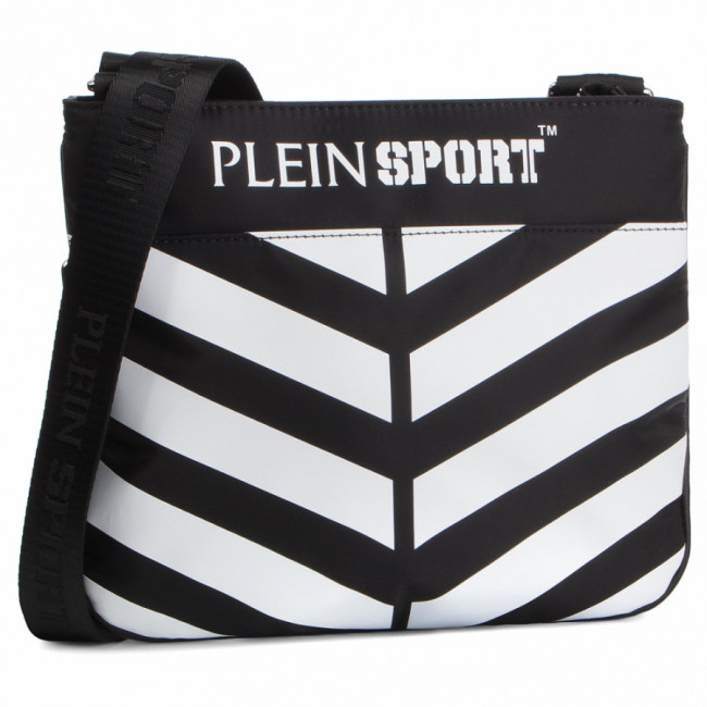 Ľadvinka PLEIN SPORT - Cross Body Geometric S19A MBA0639 STE003N Black/White 0201