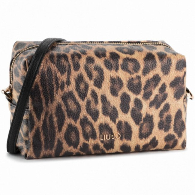 Kabelka LIU JO - M Triple Beauty A69035 E0419 Leopardo Marro 03V36