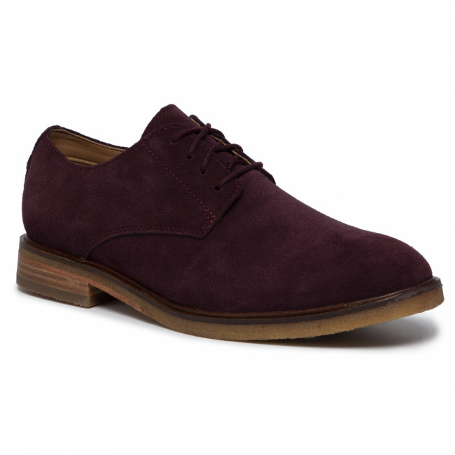 Poltopánky CLARKS - Clarkdale Moon 261456397 Burgundy Suede