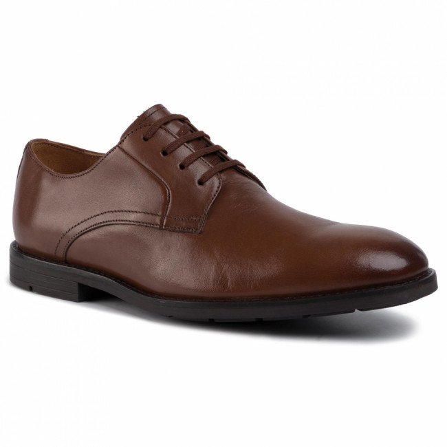 Poltopánky CLARKS - Ronnie Walk 261437767  British Tan Leather