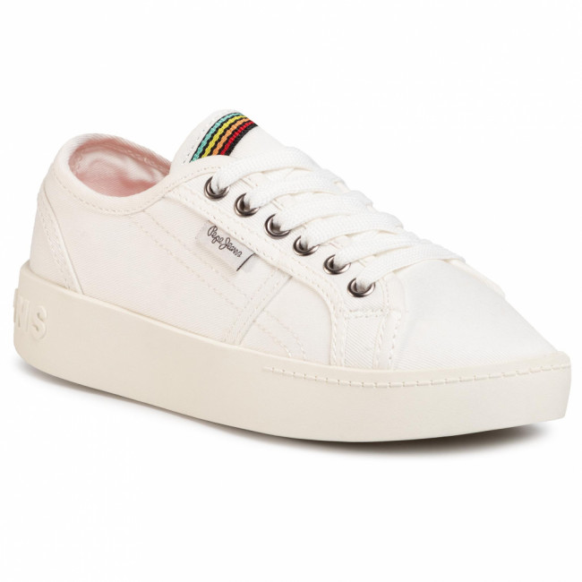 Sneakersy PEPE JEANS - Brixton Canvas PGS30448 Off White 803