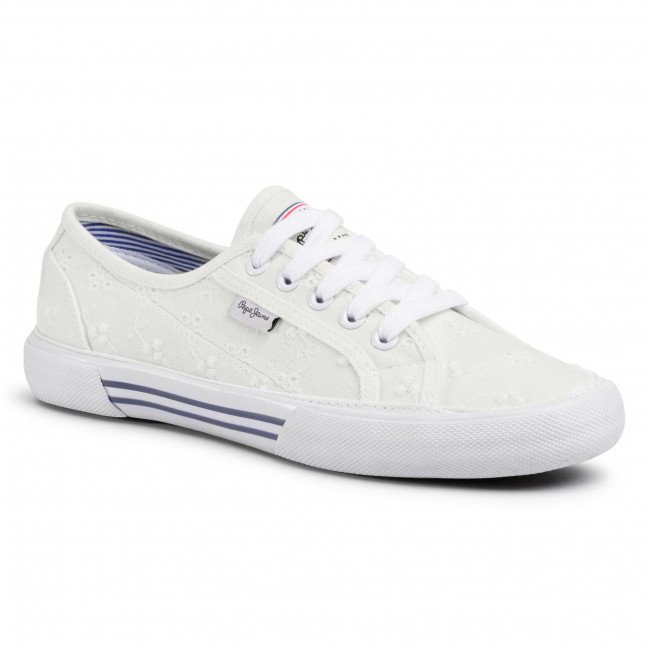 Tenisky PEPE JEANS - Aberlady Angy-20 PLS30948 White 800
