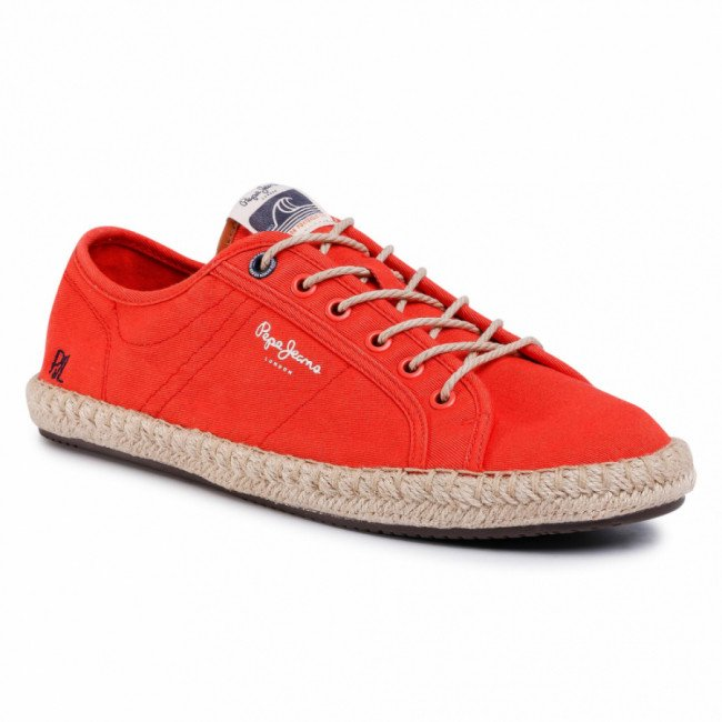 Espadrilky PEPE JEANS - Tourist Island PMS10285 Sunset Orange 168