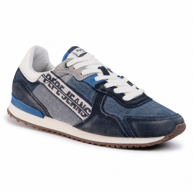 Sneakersy PEPE JEANS - Tinker Denim Tape PMS30623 Dark Denim 559