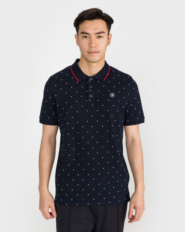 Jack & Jones Aop Polo tričko Modrá