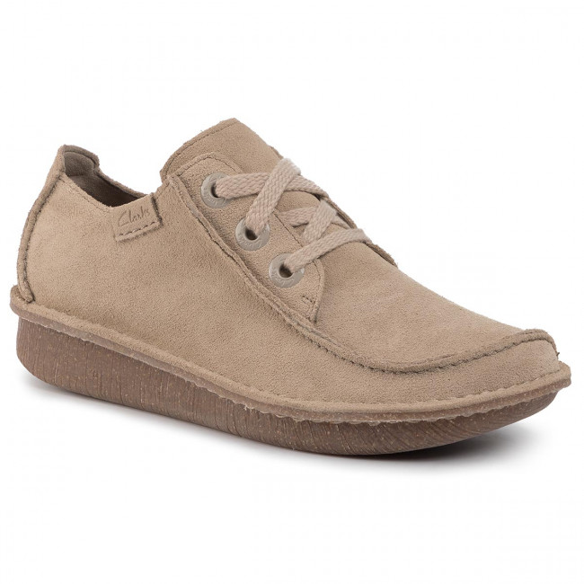 Poltopánky CLARKS - Funny Dream 261444854  Sand Suede