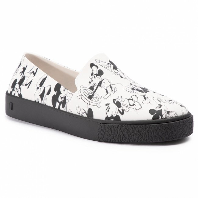 Lordsy MELISSA - Ground + Mickey Ad 32533 White/Black 50735