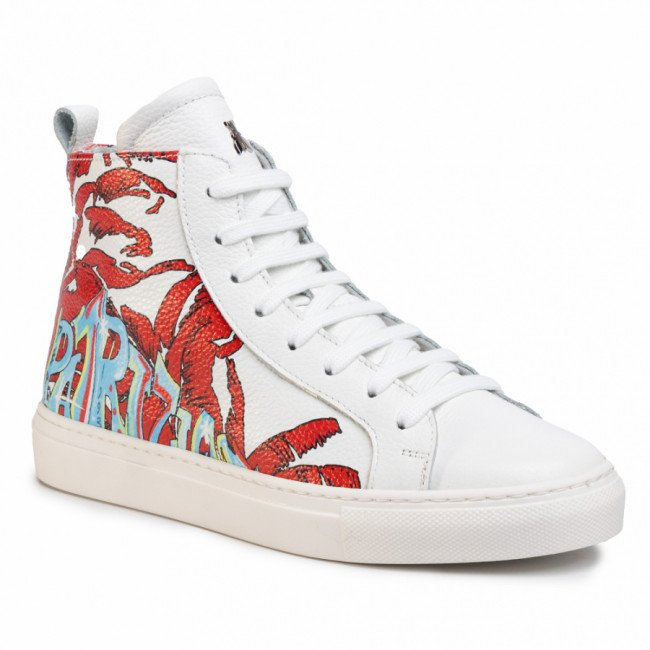 Sneakersy PATRIZIA PEPE - 2V9438/A6P1-J3CX White Red Wall