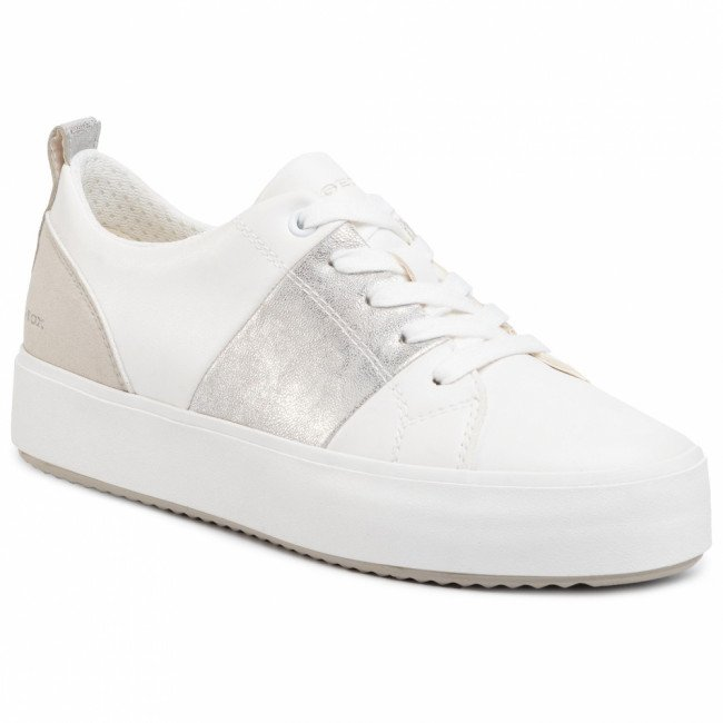 Sneakersy GEOX - D Blomiee H. A D02DZA 0BCBN C0007 White/Silver