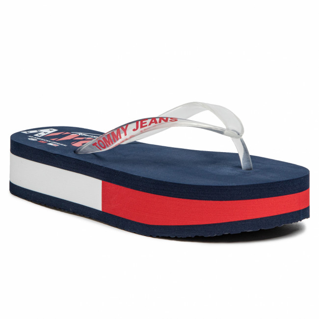 Žabky TOMMY JEANS - Pop Color Mid Beach Sandal EN0EN00853 Twilight Navy C87