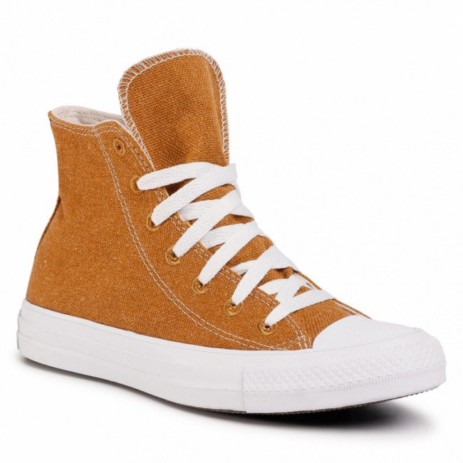 Tramky CONVERSE - Ctas Hi 166740C Wheat/Natural/White