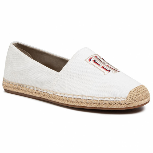 Espadrilky TOMMY HILFIGER - Nautical Th Basic Espadrille FW0FW04750 Ivory YBI