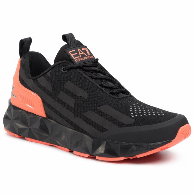Sneakersy EA7 EMPORIO ARMANI - X8X033 XCC52 M538  Black/Orange Fluo