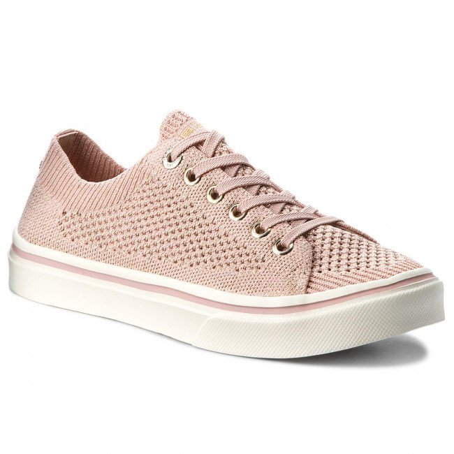 Tenisky TOMMY HILFIGER - Knitted Light Weight Lace Up FW0FW03362  Dusty Rose 502