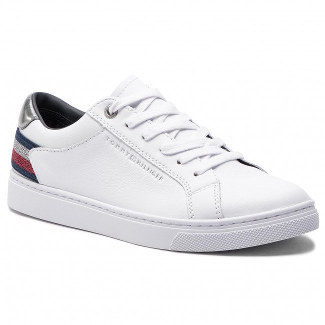 Sneakersy TOMMY HILFIGER - Essential Sneaker FW0FW03710  White 100