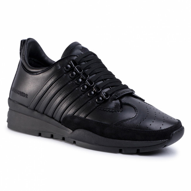 Sneakersy DSQUARED2 - Lace-Up Low Top Sneakers SNM0101 01500001 M436 Nero/Nero