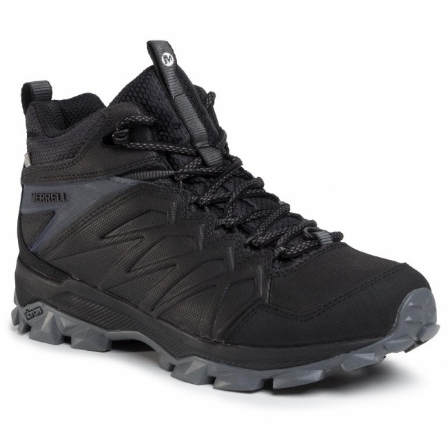 Trekingová obuv MERRELL - Thermo Freeze Mid Wp J42609 Black/Black