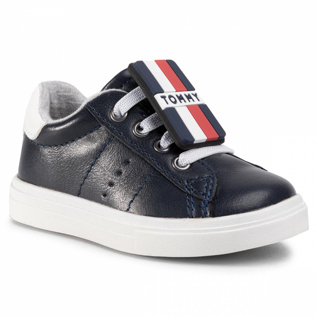 Sneakersy TOMMY HILFIGER - Low Cut Lace-Up Sneaker T1B4-30701-0623 Blue/White X007